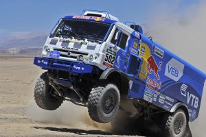 502 NIKOLAEV Eduard (Rus) YAKOVLEV Evgeny (Rus) AKHMADEEV Ruslan (Rus)Kamaz action during the Dakar 2015 Argentina Bolivia Chile, Stage 5 / Etape 5 - Copiapo to Antofagasta on January 8th 2015 at Copiapo, Chile. Photo DPPI